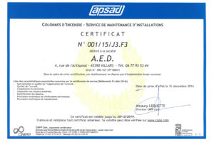 APSAD CS MAINTENANCE ECH 30 12 2019