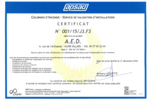 APSAD CS VALIDATION ECH 30 12 2019