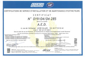 APSAD NF SERVICE 30 12 2018